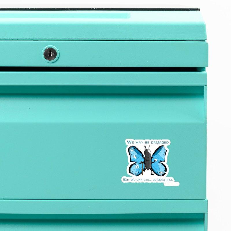 Battle Damaged Butterfly Accessories Magnet by Every Drop's An Idea's Artist Shop