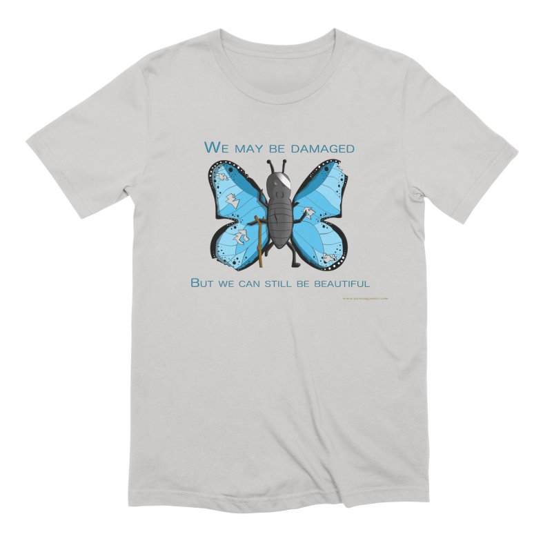Battle Damaged Butterfly Men's Extra Soft T-Shirt by Every Drop's An Idea's Artist Shop