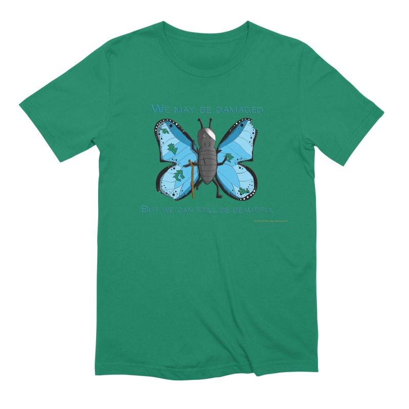 Battle Damaged Butterfly Men's T-Shirt by Every Drop's An Idea's Artist Shop