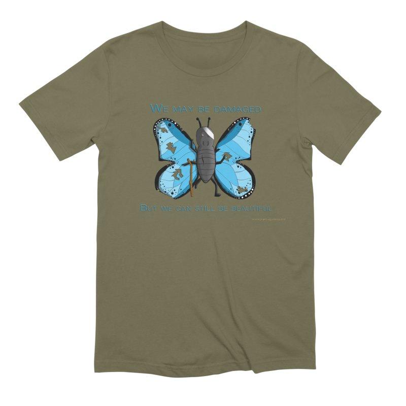 Battle Damaged Butterfly Men's Extra Soft T-Shirt by Every Drop's An Idea's Artist Shop