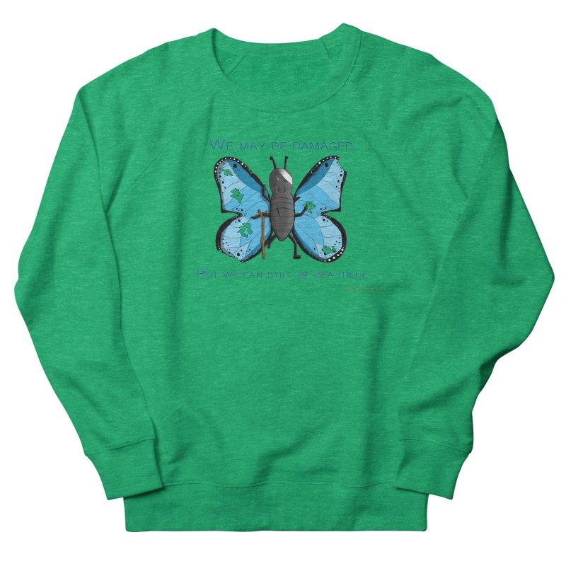 Battle Damaged Butterfly Women's Sweatshirt by Every Drop's An Idea's Artist Shop