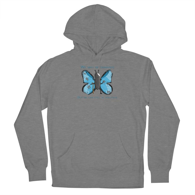 Battle Damaged Butterfly Women's Pullover Hoody by Every Drop's An Idea's Artist Shop
