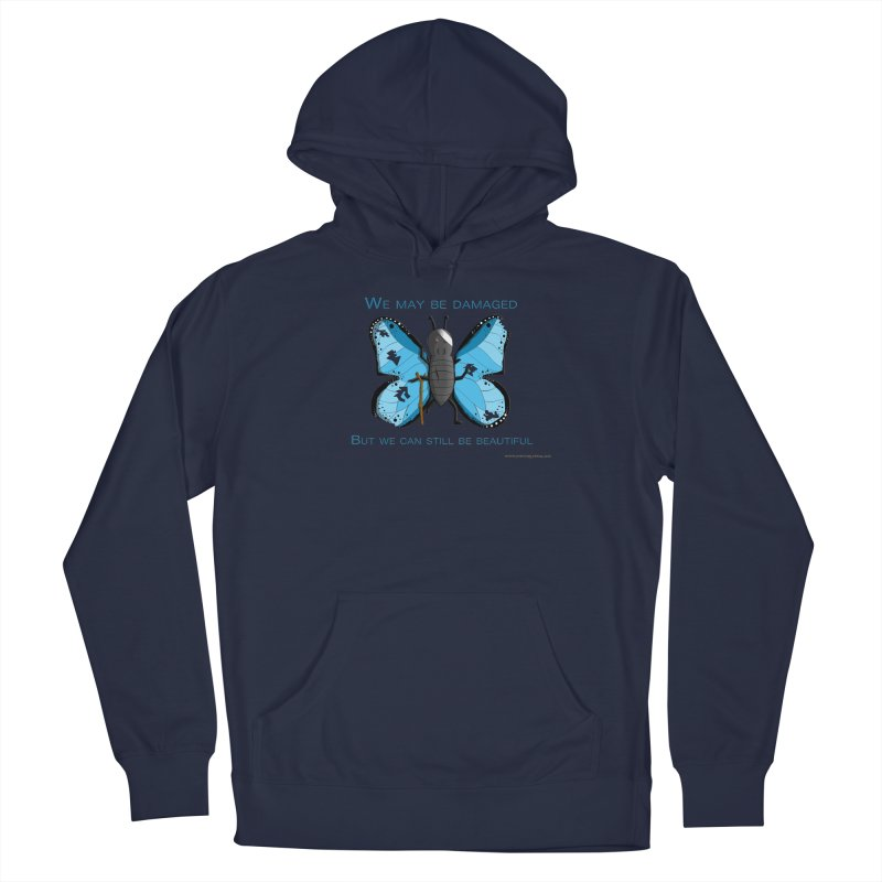 Battle Damaged Butterfly All Genders Pullover Hoody by Every Drop's An Idea's Artist Shop