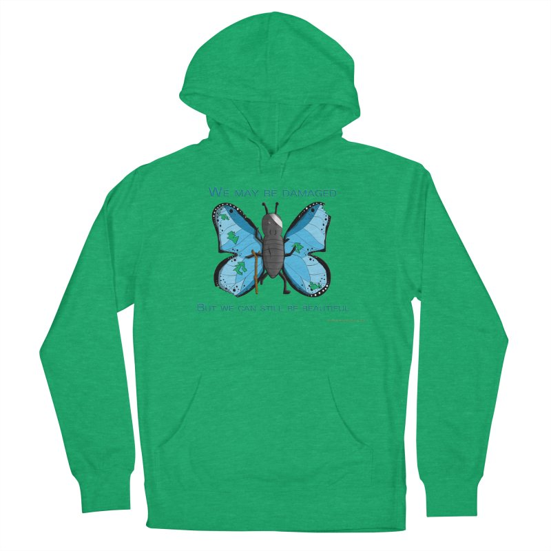 Battle Damaged Butterfly Women's French Terry Pullover Hoody by Every Drop's An Idea's Artist Shop