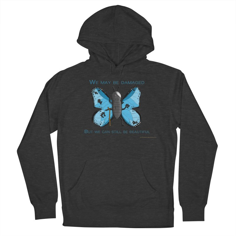 Battle Damaged Butterfly Women's Pullover Hoody by Every Drop's An Idea's Artist Shop