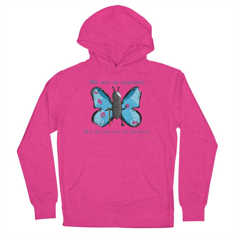 Battle Damaged Butterfly Men's French Terry Pullover Hoody by Every Drop's An Idea's Artist Shop