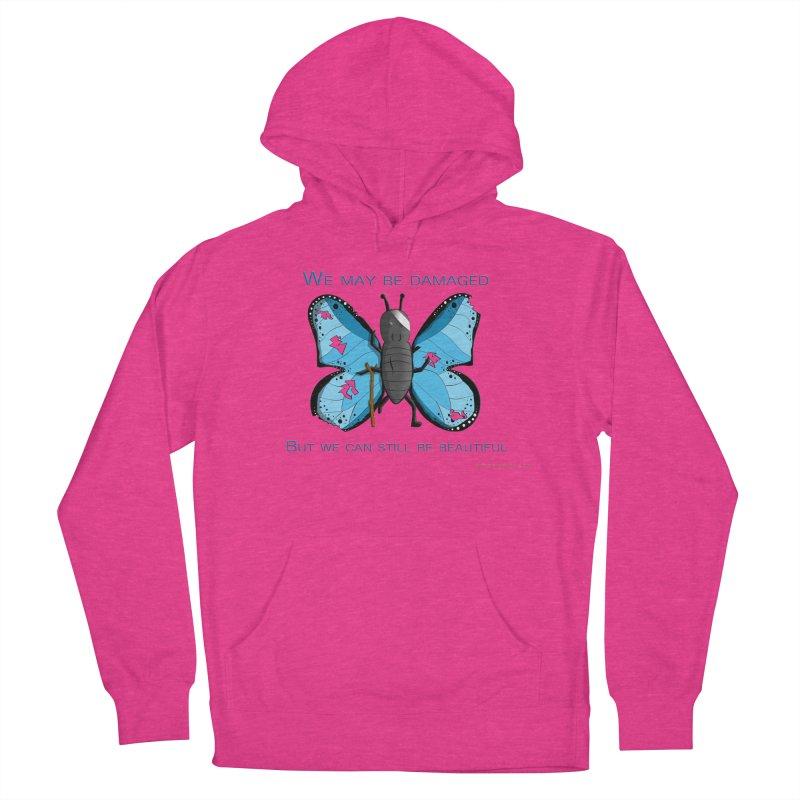 Battle Damaged Butterfly Men's Pullover Hoody by Every Drop's An Idea's Artist Shop