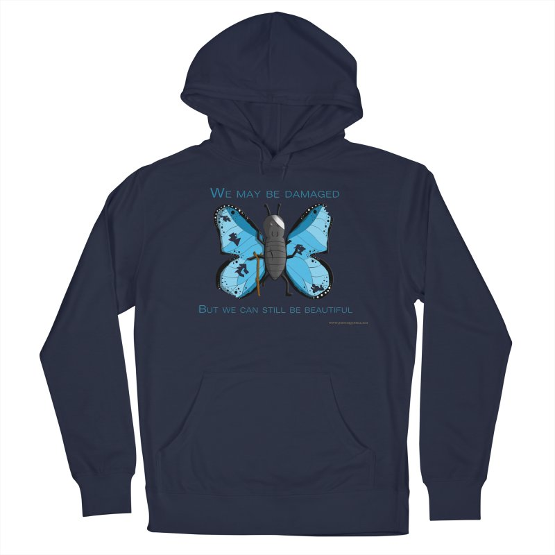 Battle Damaged Butterfly Men's Pullover Hoody by Every Drop's An Idea's Artist Shop