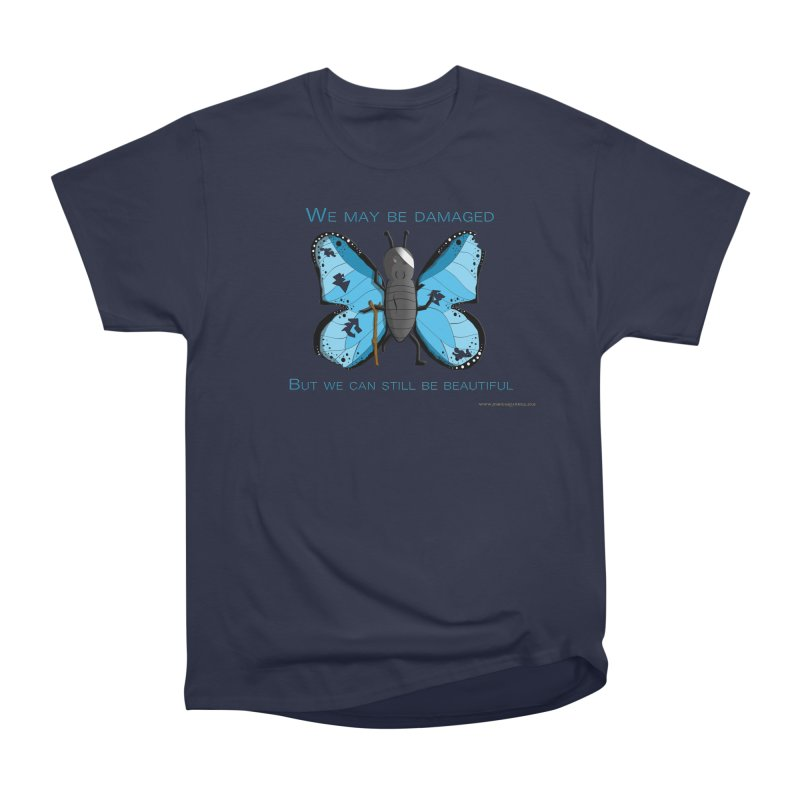 Battle Damaged Butterfly Men's Heavyweight T-Shirt by Every Drop's An Idea's Artist Shop