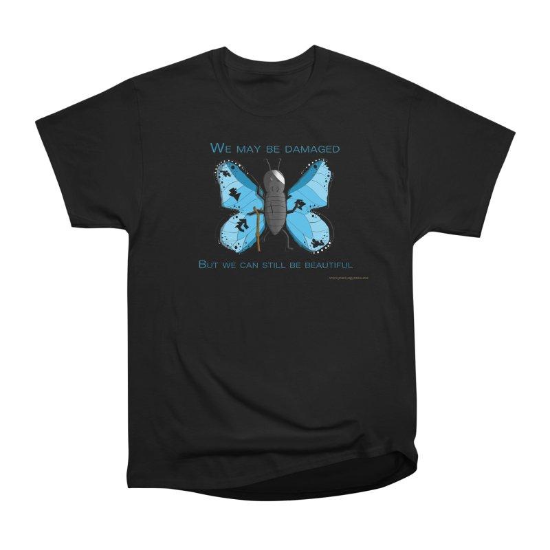 Battle Damaged Butterfly Women's Heavyweight Unisex T-Shirt by Every Drop's An Idea's Artist Shop