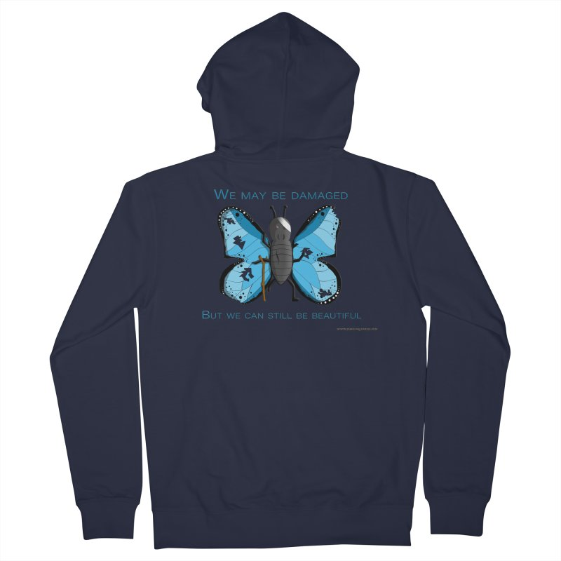 Battle Damaged Butterfly Women's French Terry Zip-Up Hoody by Every Drop's An Idea's Artist Shop