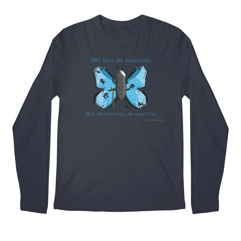 Battle Damaged Butterfly Men's Longsleeve T-Shirt by Every Drop's An Idea's Artist Shop