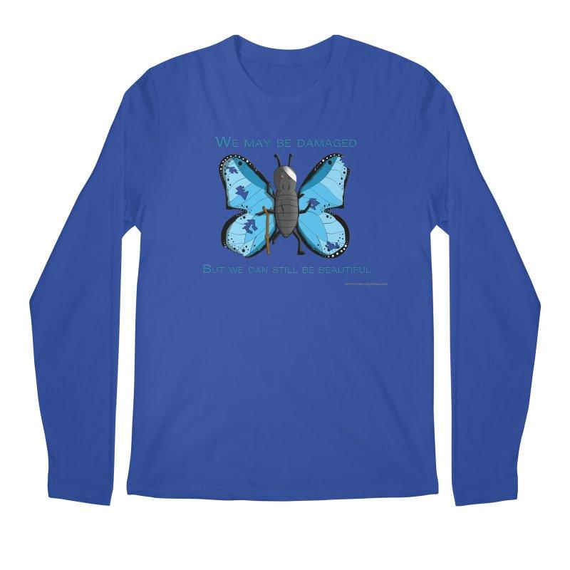 Battle Damaged Butterfly Men's Regular Longsleeve T-Shirt by Every Drop's An Idea's Artist Shop