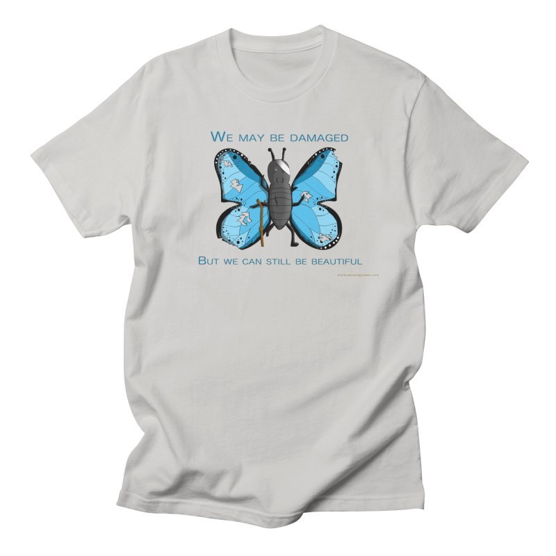 Battle Damaged Butterfly Women's Regular Unisex T-Shirt by Every Drop's An Idea's Artist Shop
