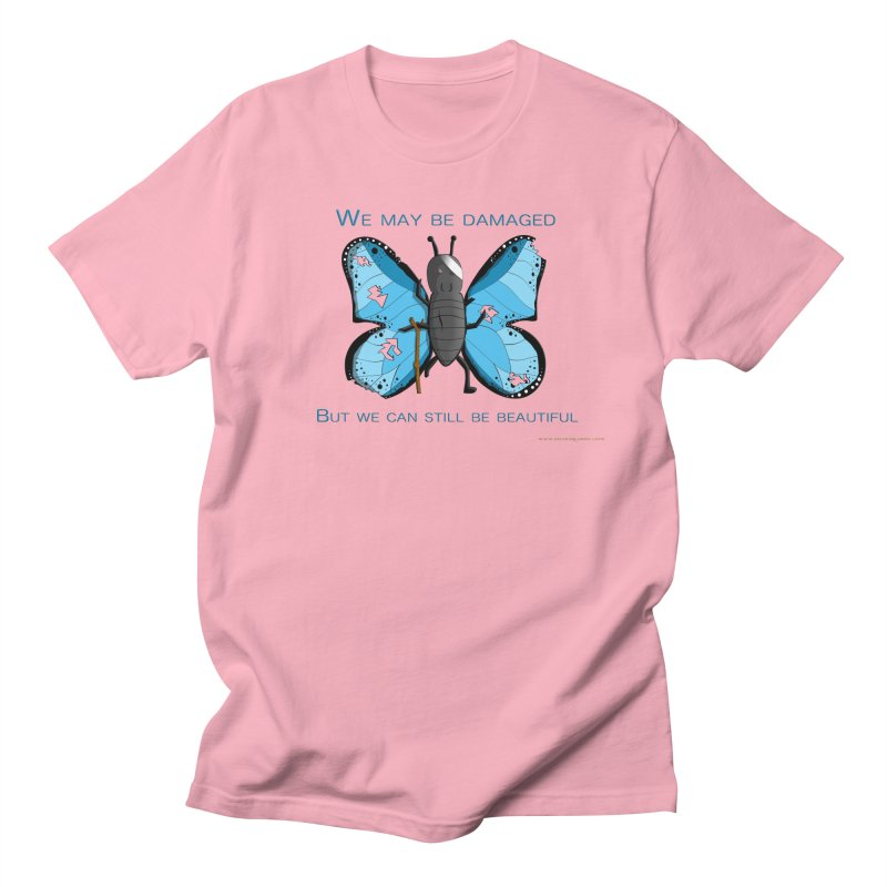 Battle Damaged Butterfly Men's T-Shirt by Every Drop's An Idea's Artist Shop