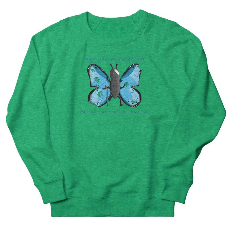 Battle Damaged Butterfly Women's Sweatshirt by Every Drop's An Idea's Artist Shop