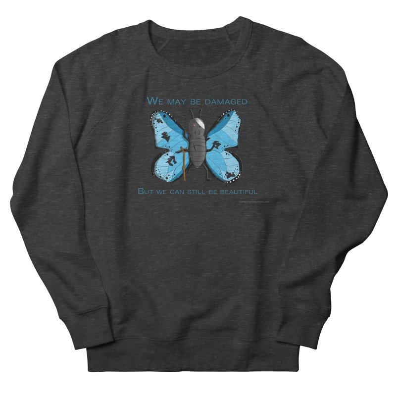 Battle Damaged Butterfly Women's French Terry Sweatshirt by Every Drop's An Idea's Artist Shop