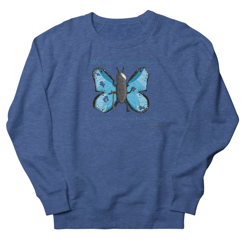Battle Damaged Butterfly Men's Sweatshirt by Every Drop's An Idea's Artist Shop