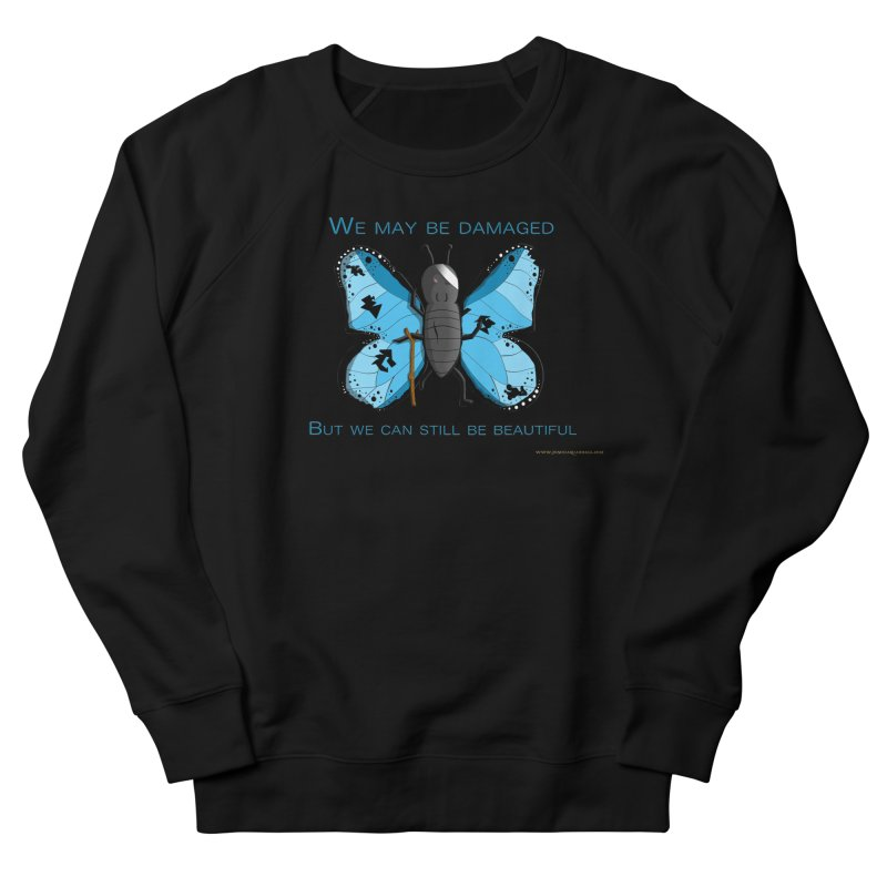 Battle Damaged Butterfly Men's French Terry Sweatshirt by Every Drop's An Idea's Artist Shop