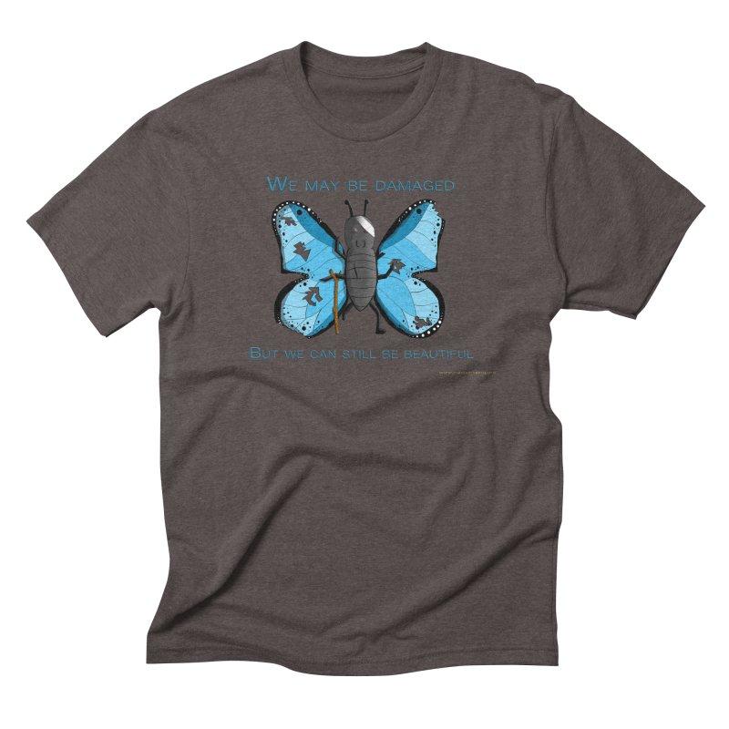 Battle Damaged Butterfly Men's Triblend T-Shirt by Every Drop's An Idea's Artist Shop