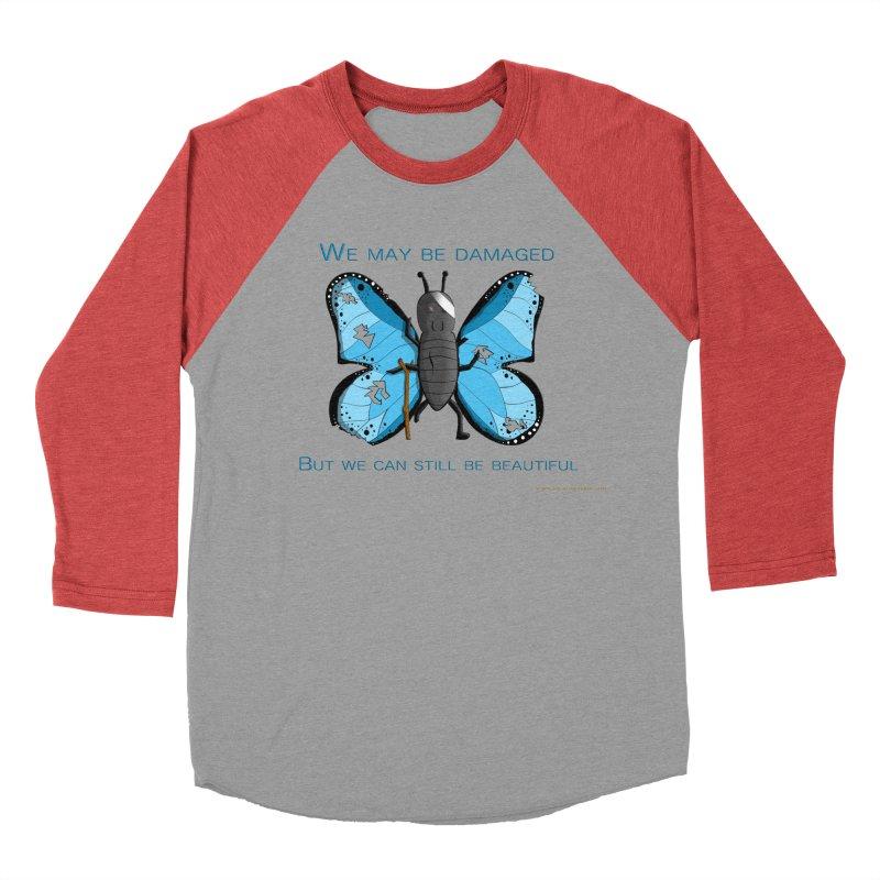 Battle Damaged Butterfly Women's Baseball Triblend Longsleeve T-Shirt by Every Drop's An Idea's Artist Shop