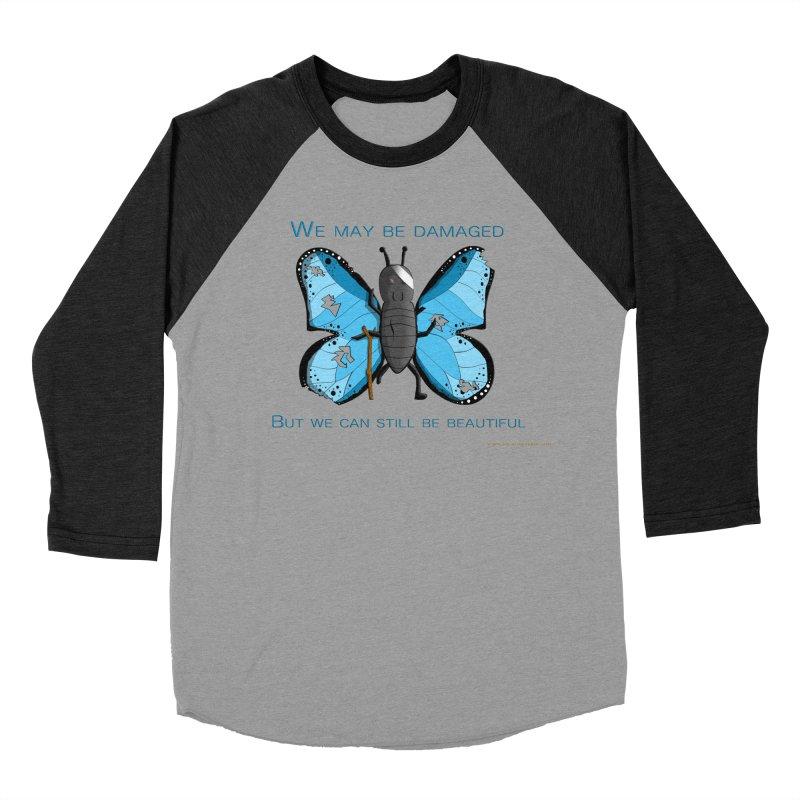 Battle Damaged Butterfly Men's Baseball Triblend Longsleeve T-Shirt by Every Drop's An Idea's Artist Shop
