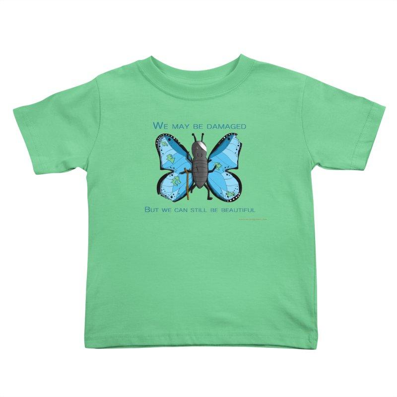 Battle Damaged Butterfly Kids Toddler T-Shirt by Every Drop's An Idea's Artist Shop