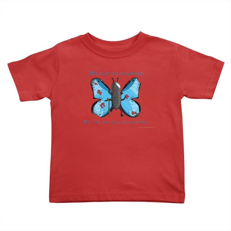 Battle Damaged Butterfly Kids Toddler T-Shirt by Every Drop's An Idea's Artist Shop