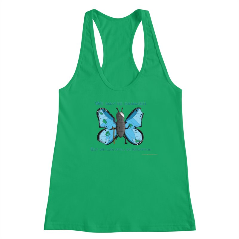 Battle Damaged Butterfly Women's Tank by Every Drop's An Idea's Artist Shop