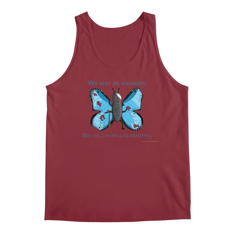 Battle Damaged Butterfly Men's Tank by Every Drop's An Idea's Artist Shop