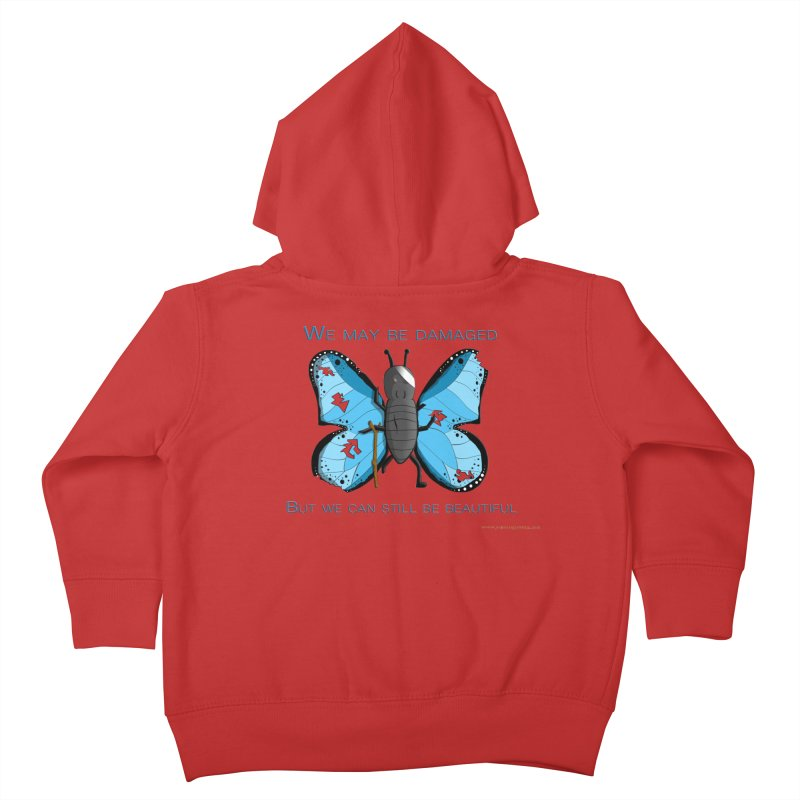 Battle Damaged Butterfly Youth Toddler Zip-Up Hoody by Every Drop's An Idea's Artist Shop