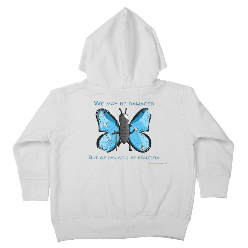 Battle Damaged Butterfly Kids Toddler Zip-Up Hoody by Every Drop's An Idea's Artist Shop