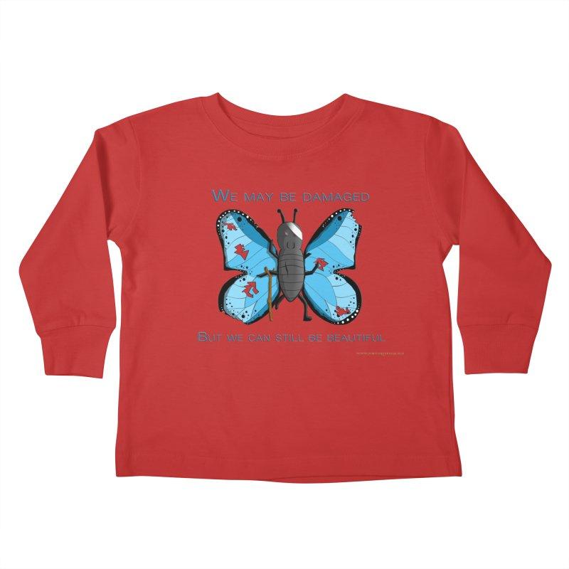 Battle Damaged Butterfly Kids Toddler Longsleeve T-Shirt by Every Drop's An Idea's Artist Shop
