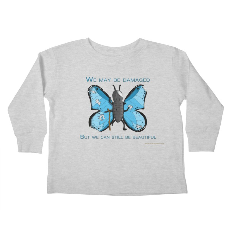 Battle Damaged Butterfly Kids Toddler Longsleeve T-Shirt by Every Drop's An Idea's Artist Shop
