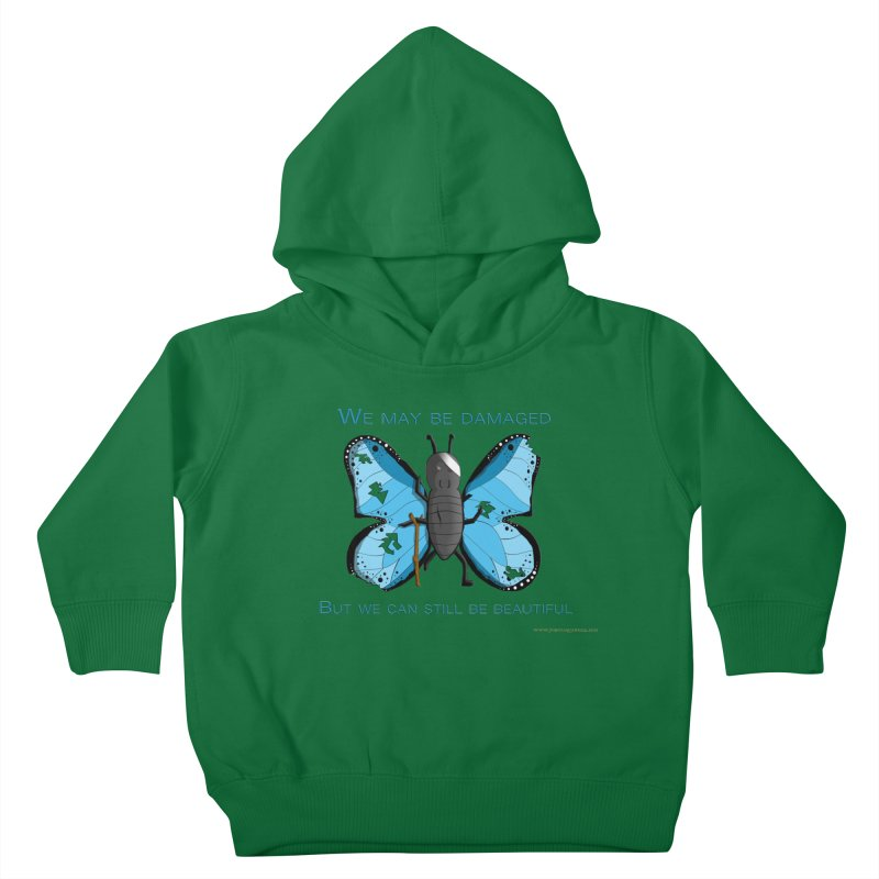 Battle Damaged Butterfly Kids Toddler Pullover Hoody by Every Drop's An Idea's Artist Shop