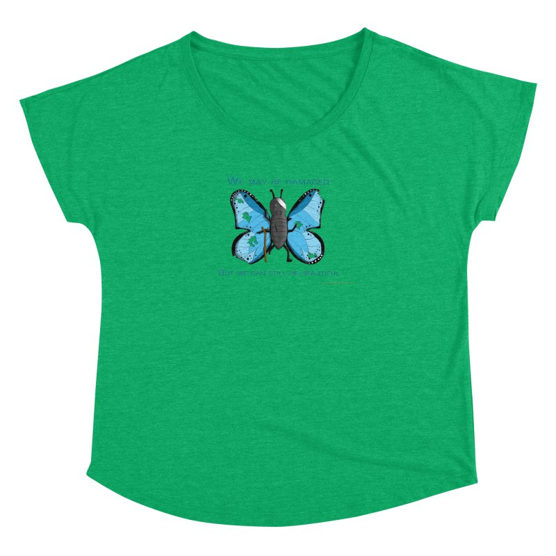 Battle Damaged Butterfly Women's Dolman by Every Drop's An Idea's Artist Shop