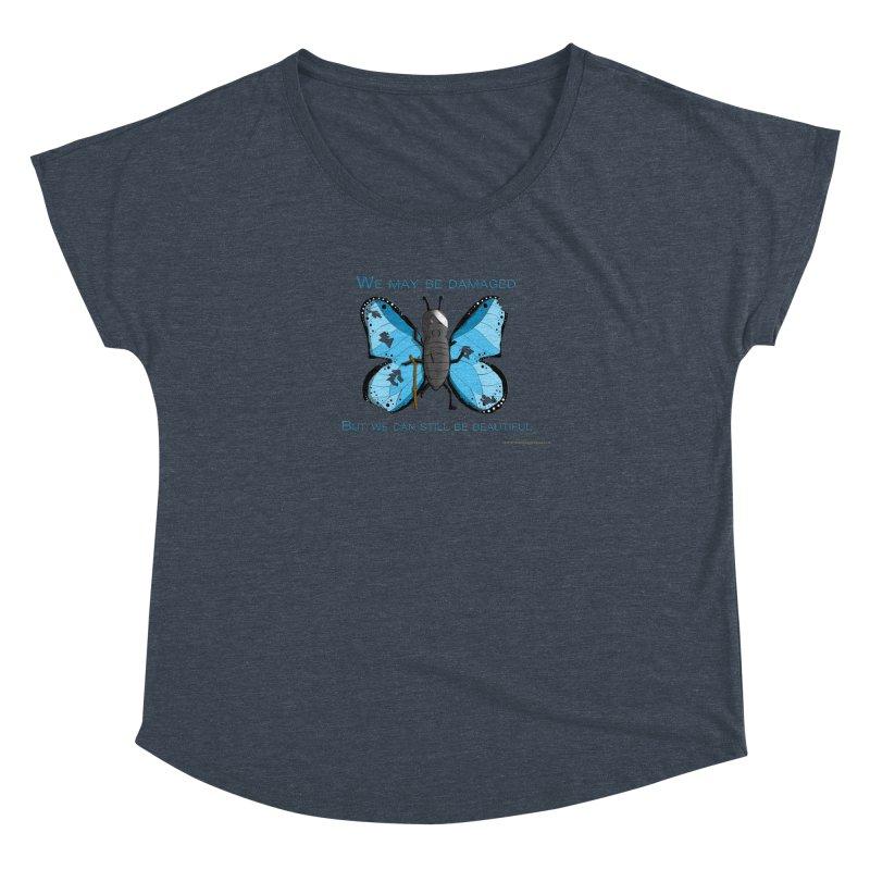 Battle Damaged Butterfly Women's Dolman Scoop Neck by Every Drop's An Idea's Artist Shop