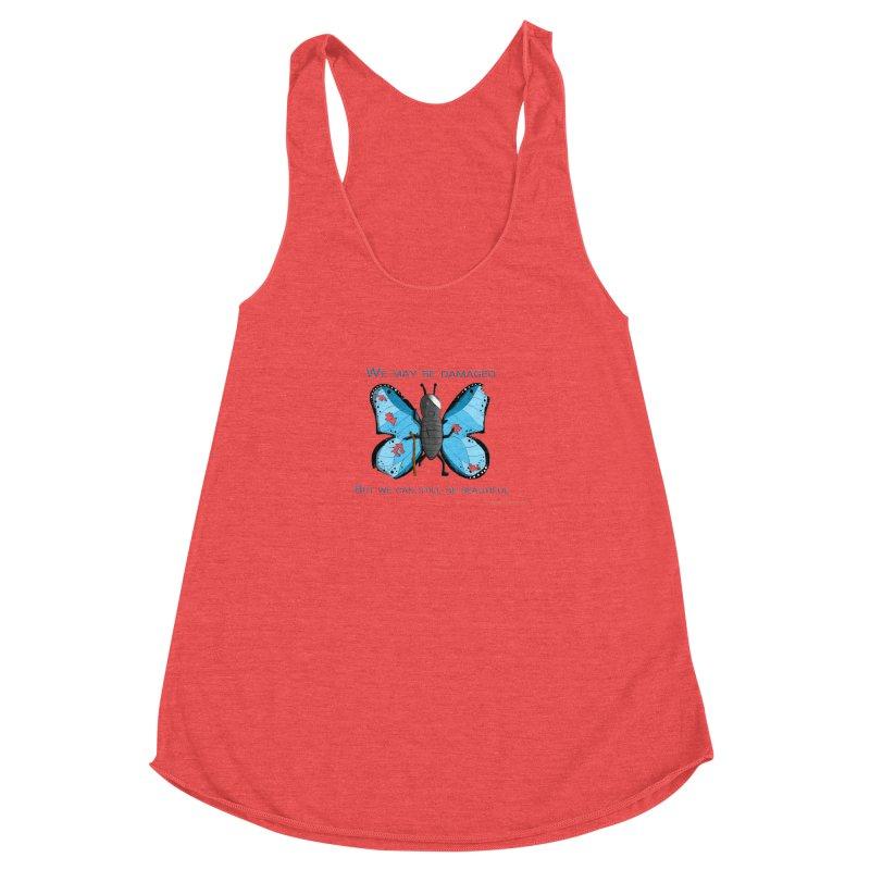 Battle Damaged Butterfly Women's Tank by Every Drop's An Idea's Artist Shop