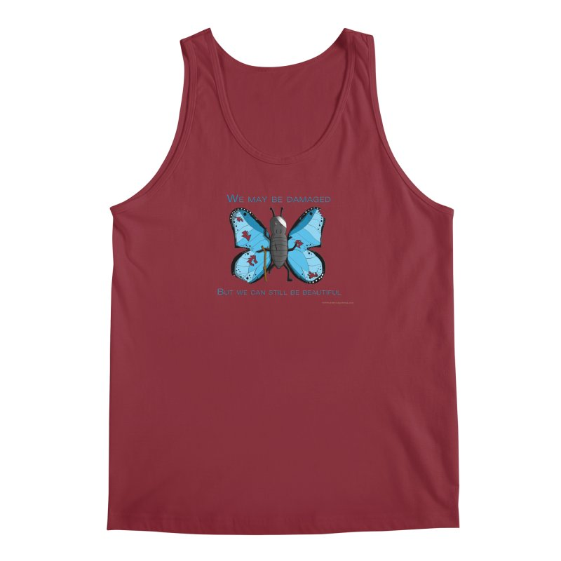 Battle Damaged Butterfly Men's Regular Tank by Every Drop's An Idea's Artist Shop