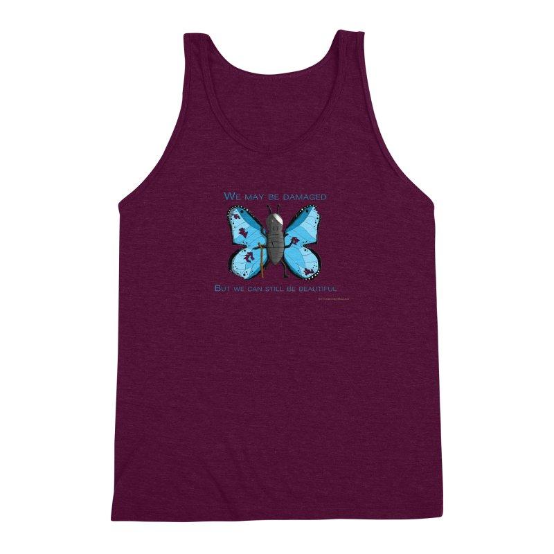 Battle Damaged Butterfly Men's Triblend Tank by Every Drop's An Idea's Artist Shop
