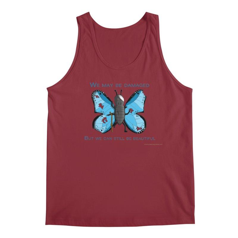 Battle Damaged Butterfly Men's Tank by Every Drop's An Idea's Artist Shop
