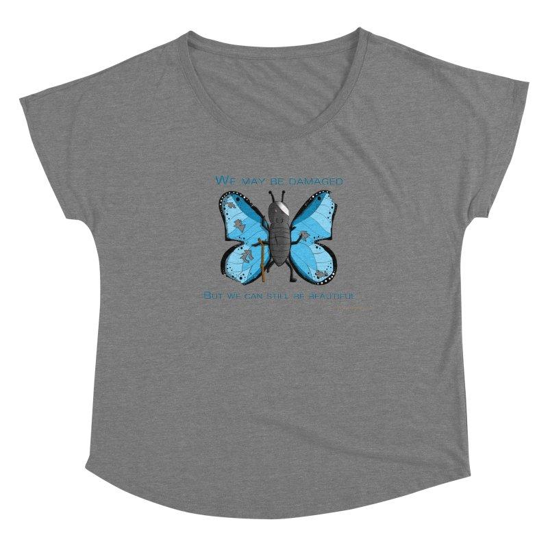 Battle Damaged Butterfly Women's Scoop Neck by Every Drop's An Idea's Artist Shop
