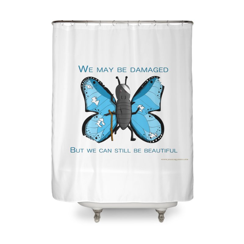 Battle Damaged Butterfly Home Shower Curtain by Every Drop's An Idea's Artist Shop