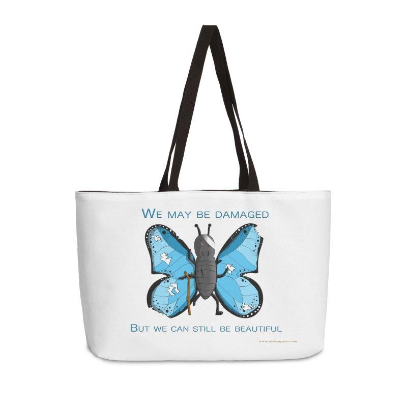 Battle Damaged Butterfly Accessories Weekender Bag Bag by Every Drop's An Idea's Artist Shop