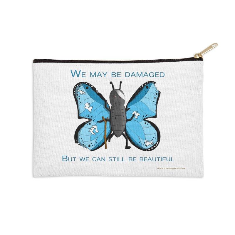 Battle Damaged Butterfly Accessories Zip Pouch by Every Drop's An Idea's Artist Shop