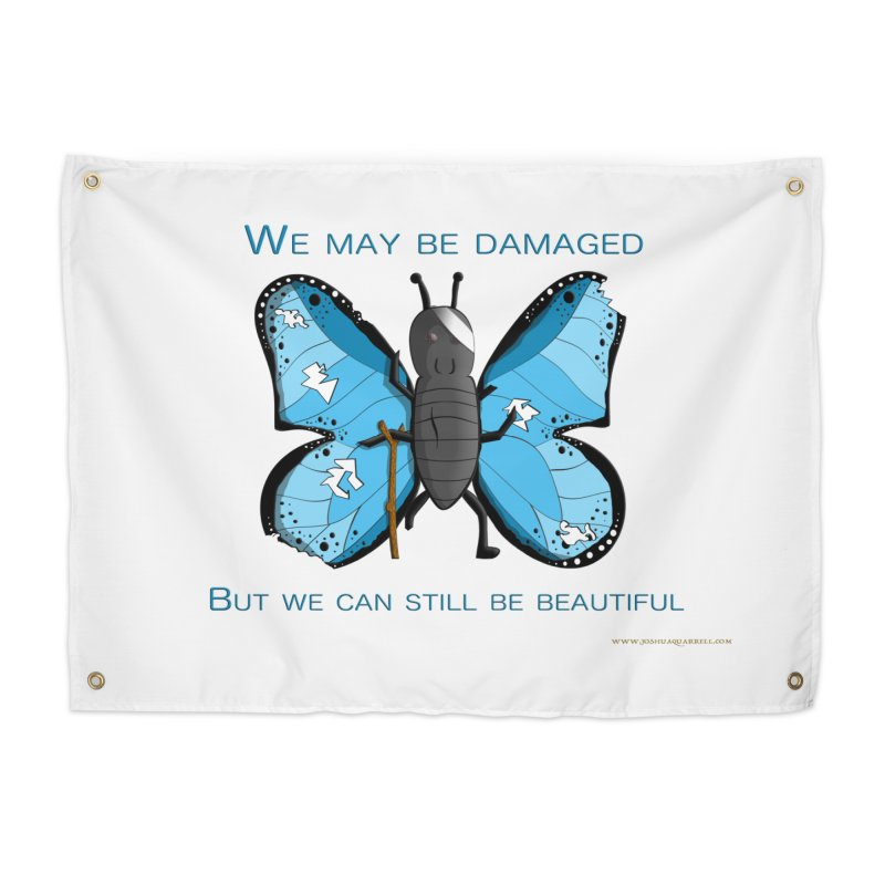 Battle Damaged Butterfly Home Tapestry by Every Drop's An Idea's Artist Shop