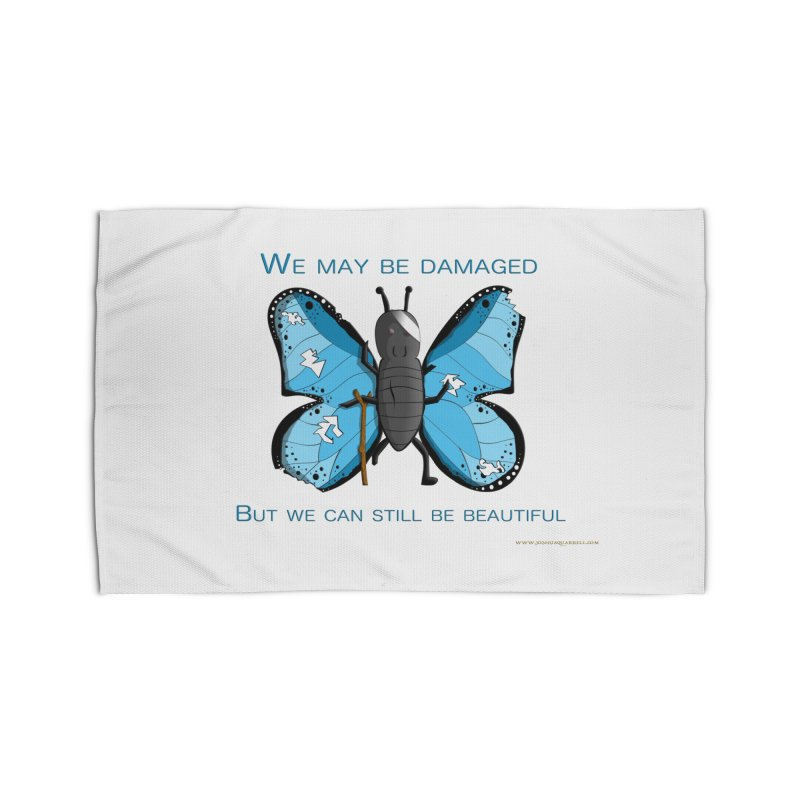 Battle Damaged Butterfly Home Rug by Every Drop's An Idea's Artist Shop