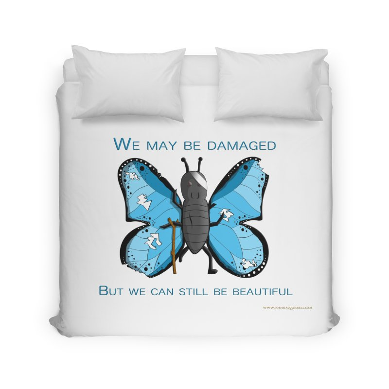 Battle Damaged Butterfly Home Duvet by Every Drop's An Idea's Artist Shop