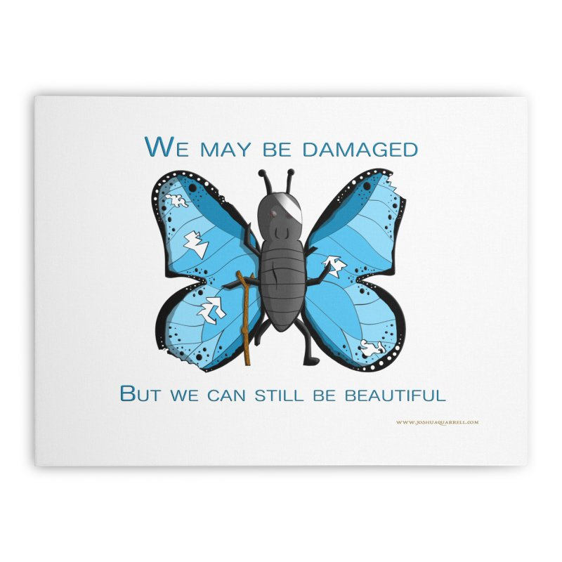 Battle Damaged Butterfly Home Stretched Canvas by Every Drop's An Idea's Artist Shop