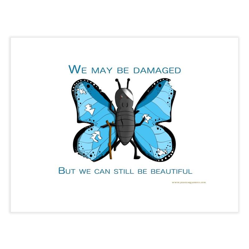 Battle Damaged Butterfly Home Fine Art Print by Every Drop's An Idea's Artist Shop